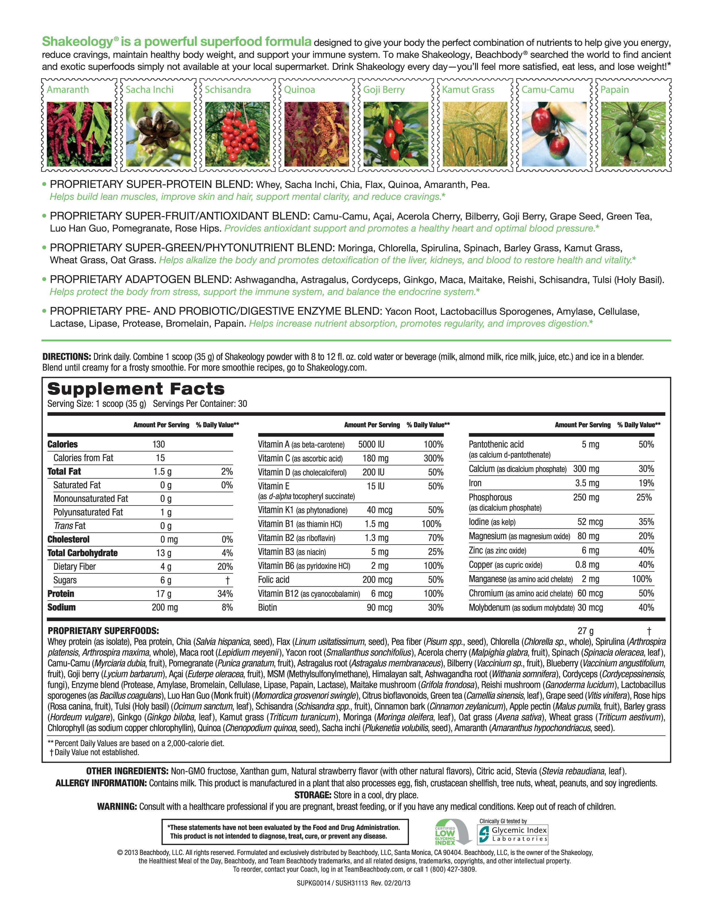 Shakeology Green Berry