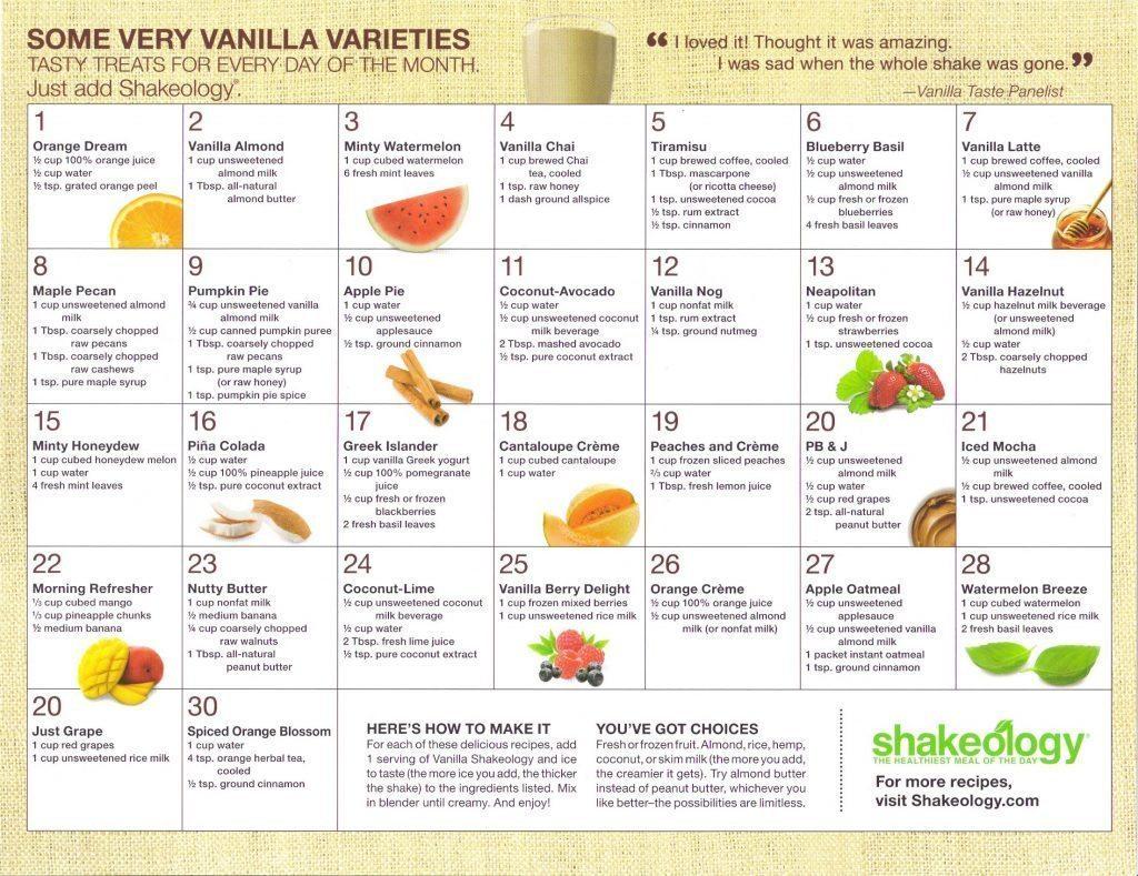 Vanilla calendar 1