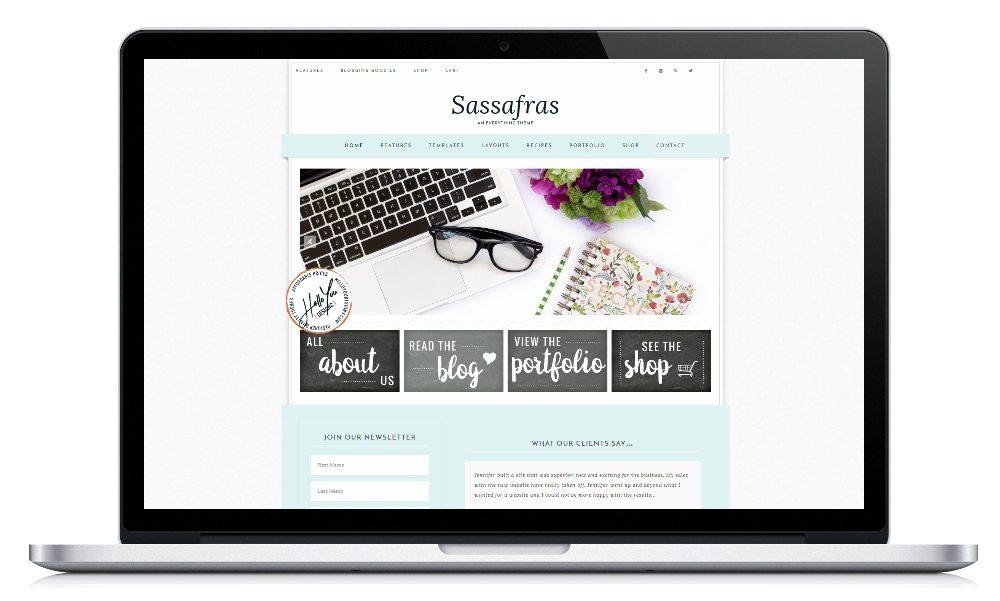 Genesis Child Theme WordPress Feminine Ecommerce Portfolio Recipe Hello You Designs
